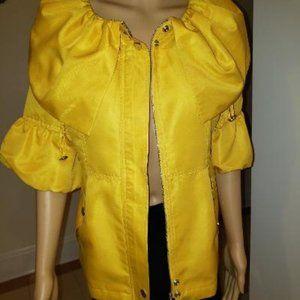 Yellow Short Sleeves Summer/Spring Jacket